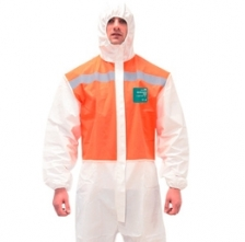 Mameluco descartable Microgard 1800 BICOLOR blanco/naranja
